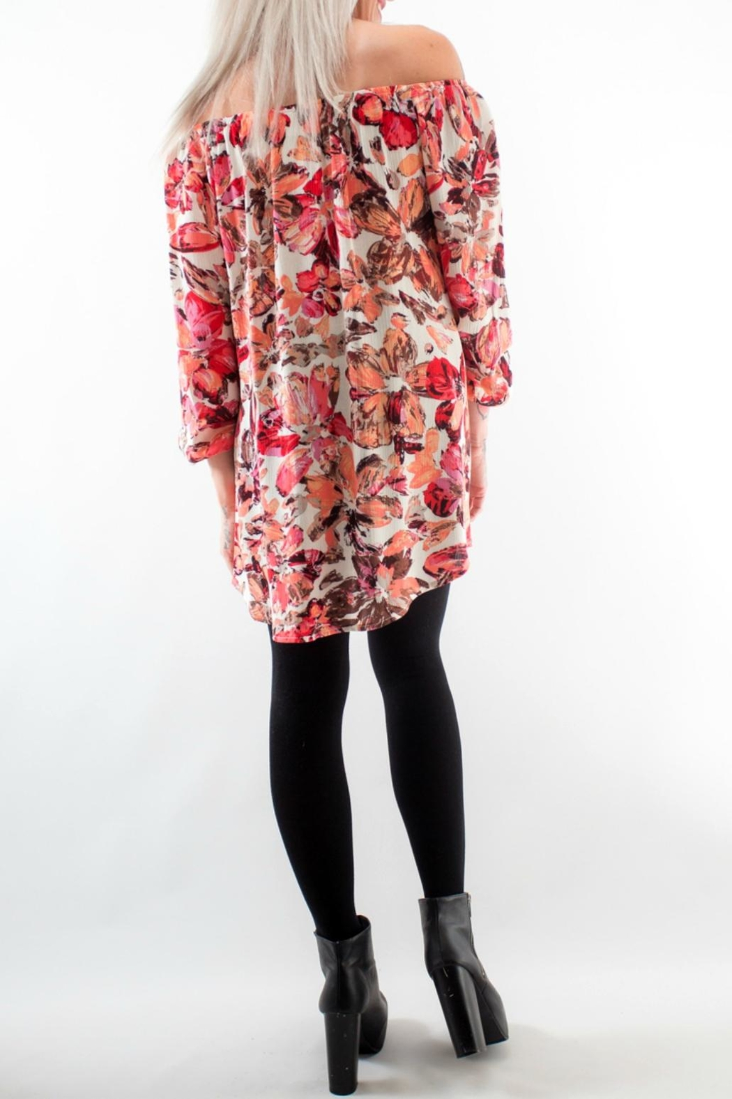Lucy Love Pink Floral Dress - Front Full Image