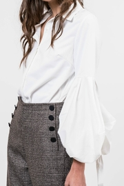 Lucy Paris Bubble Sleeve Blouse - Front cropped
