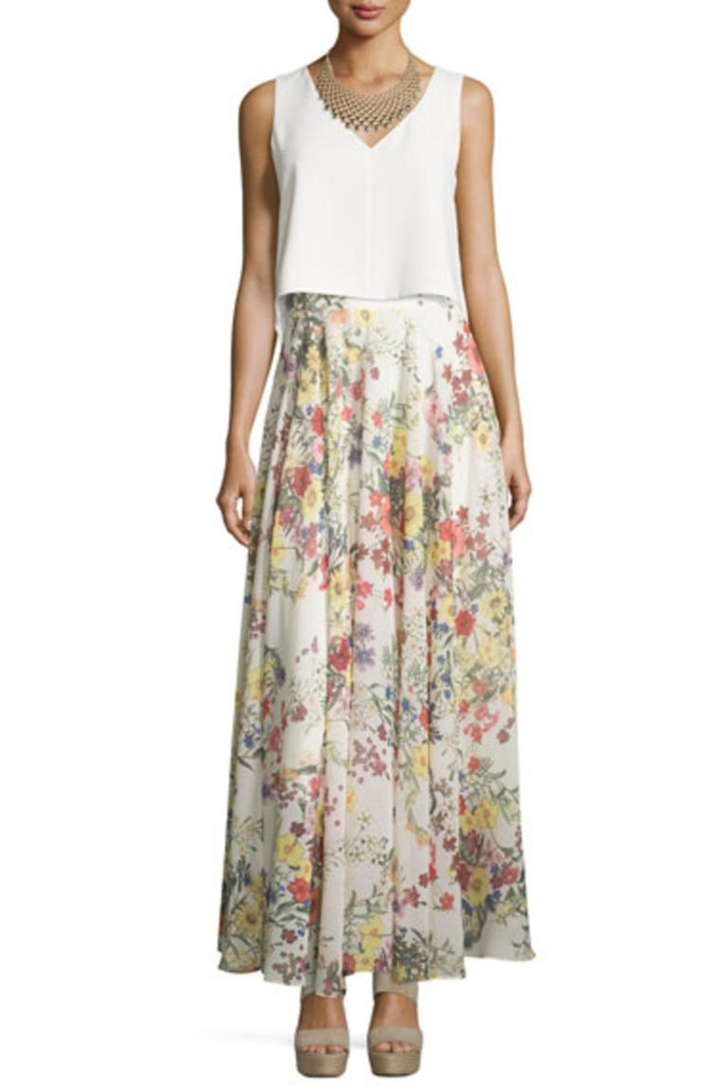 Lucy Paris Garden Print Skirt - Main Image