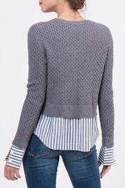 Lucy Paris Knitted Layered Sweater - Side cropped