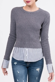 Lucy Paris Knitted Layered Sweater - Front full body