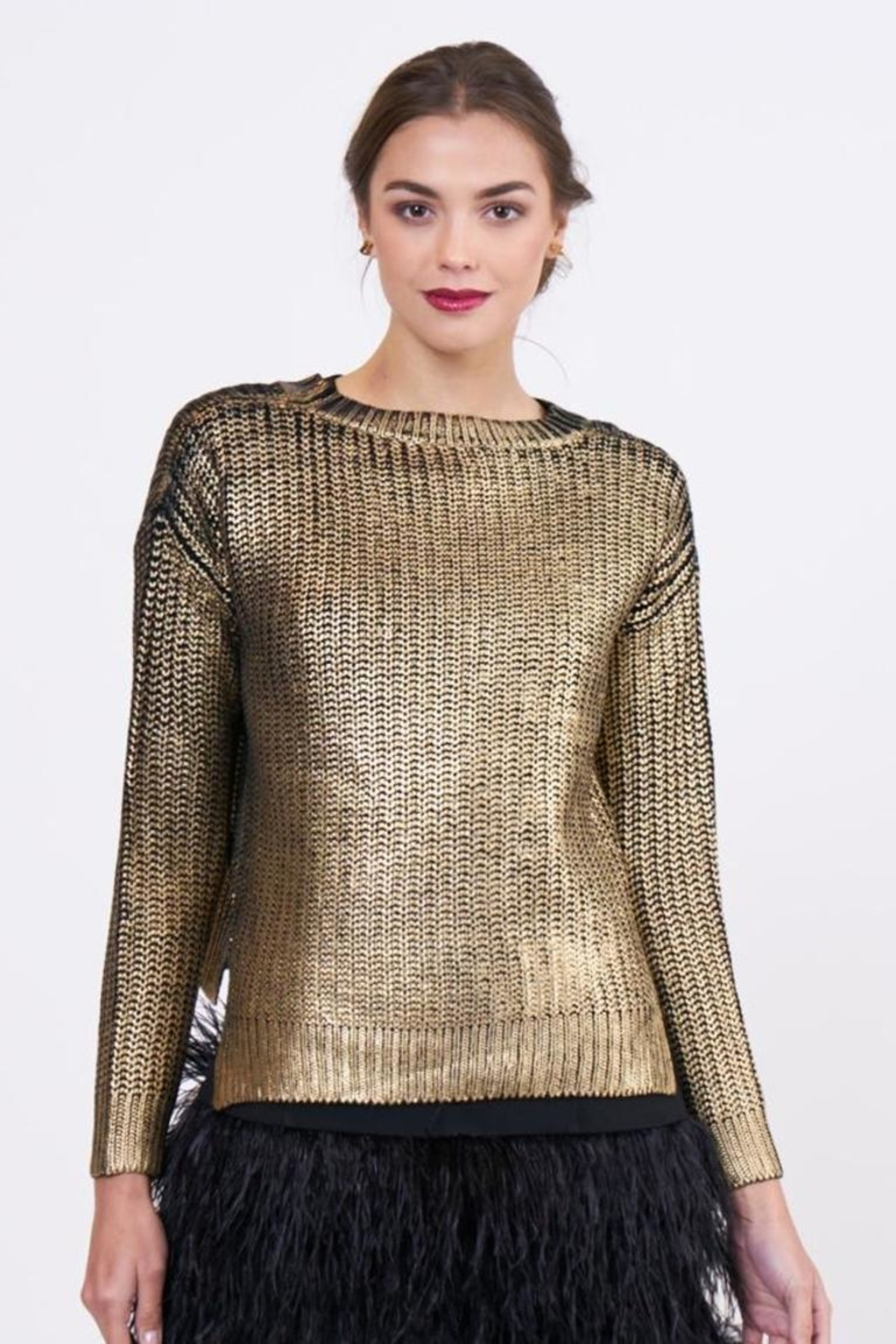 Lucy Paris Metallic Sweater - Main Image
