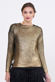 Lucy Paris Metallic Sweater - Front cropped