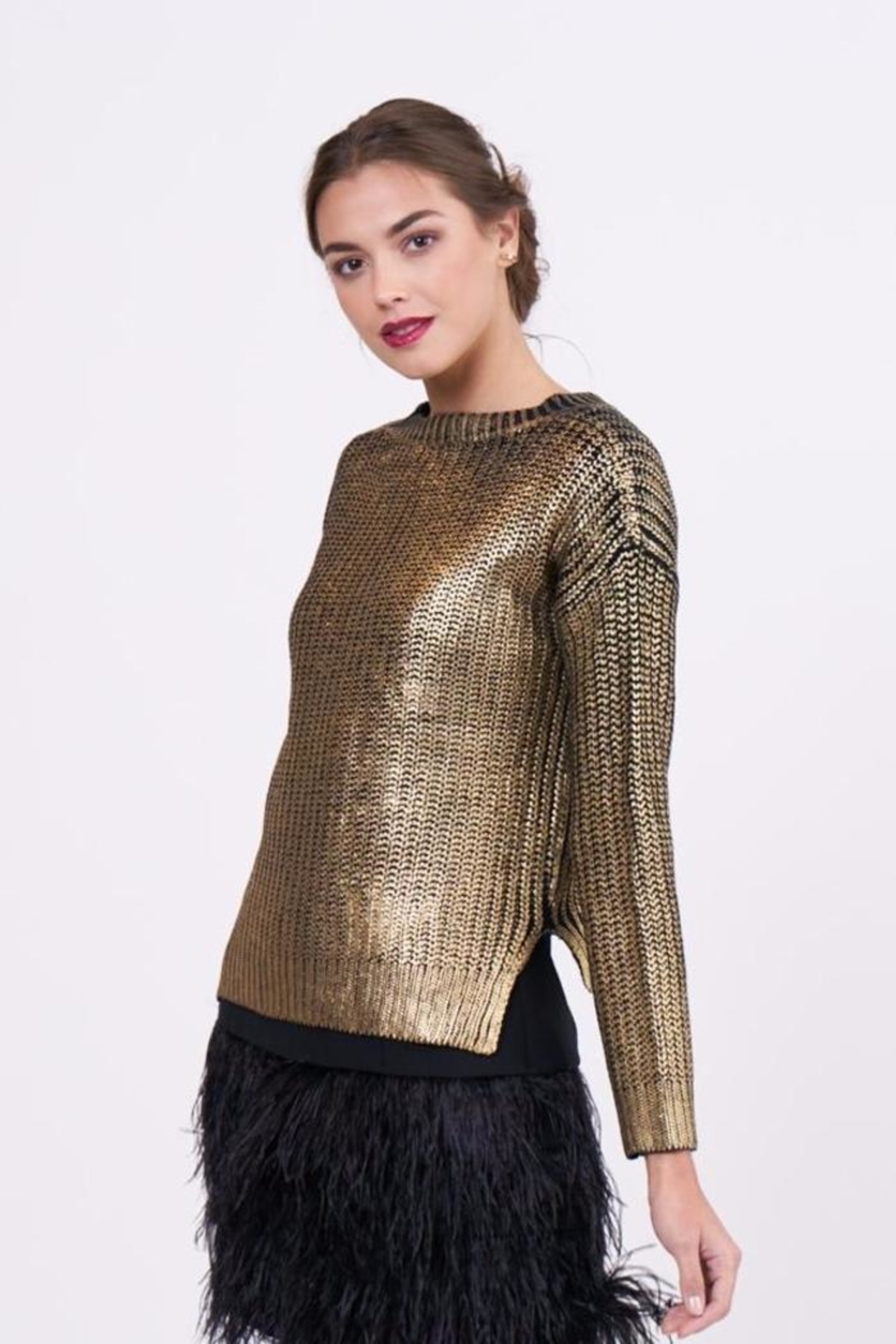 Lucy Paris Metallic Sweater - Front Full Image