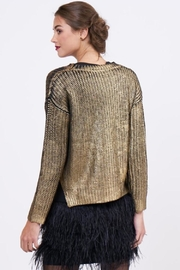 Lucy Paris Metallic Sweater - Side cropped