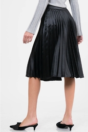 Lucy Paris Pleated Satin Skirt - Side cropped