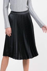 Lucy Paris Pleated Satin Skirt - Product Mini Image