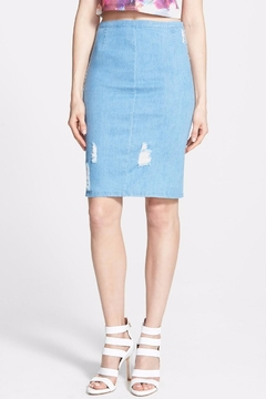 Lucy Paris Ripped Denim Skirt - Product List Image