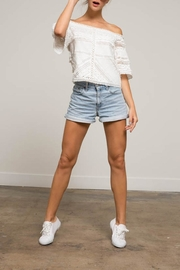 Lucy Paris Rosita Lace Top - Front cropped