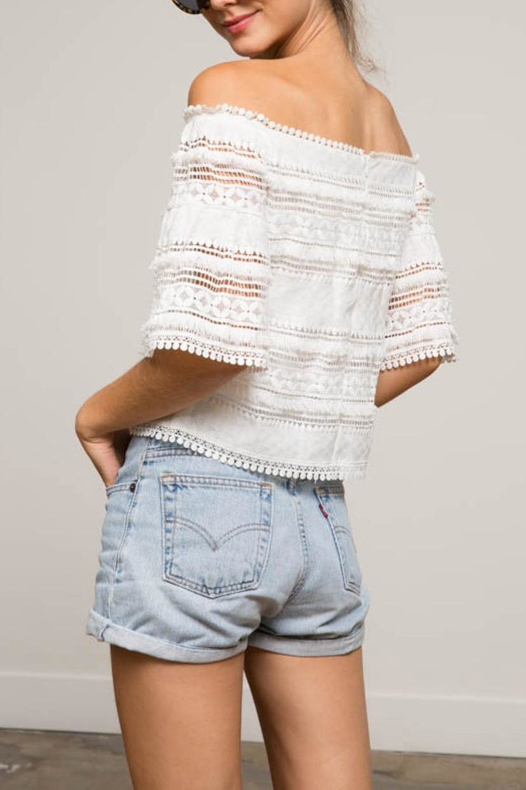 Lucy Paris Rosita Lace Top - Side Cropped Image