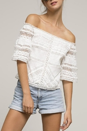 Lucy Paris Rosita Lace Top - Front full body