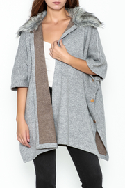 Luii Faux-Fur Collar Shawl - Front cropped