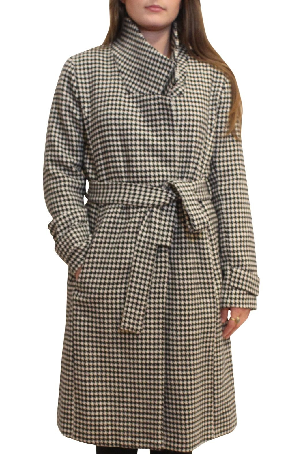 Luii Houndstooth Coat - Main Image