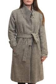 Luii Houndstooth Coat - Front cropped