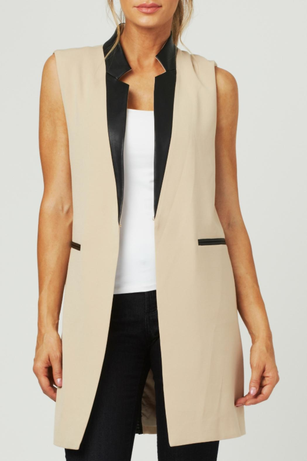 Luii Leather Trimmed Vest - Main Image