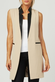 Luii Leather Trimmed Vest - Product Mini Image