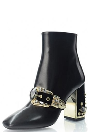 Luis Onofre Black Embellished Bootie - Product Mini Image