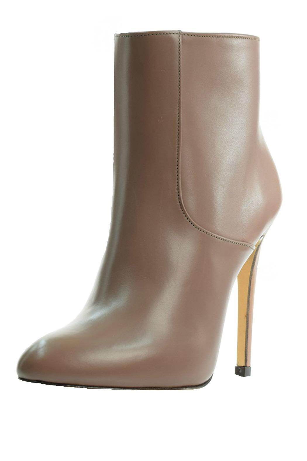 Luis Onofre Nude Leather Bootie - Front Cropped Image