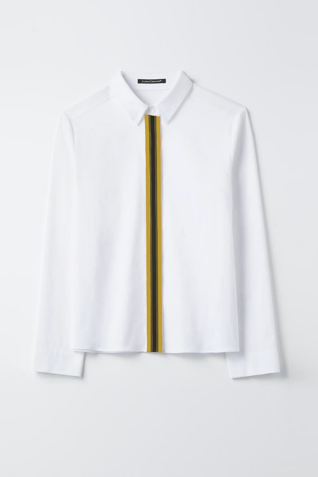 Luisa Cerano White Cotton Blouse - Front Cropped Image
