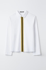 Luisa Cerano White Cotton Blouse - Front cropped