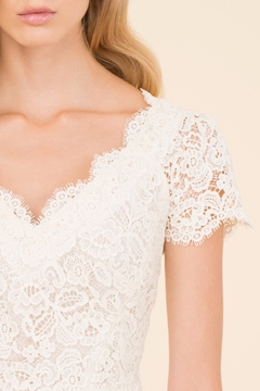 Luisa Spagnoli Cream Lace Top - Alternate List Image
