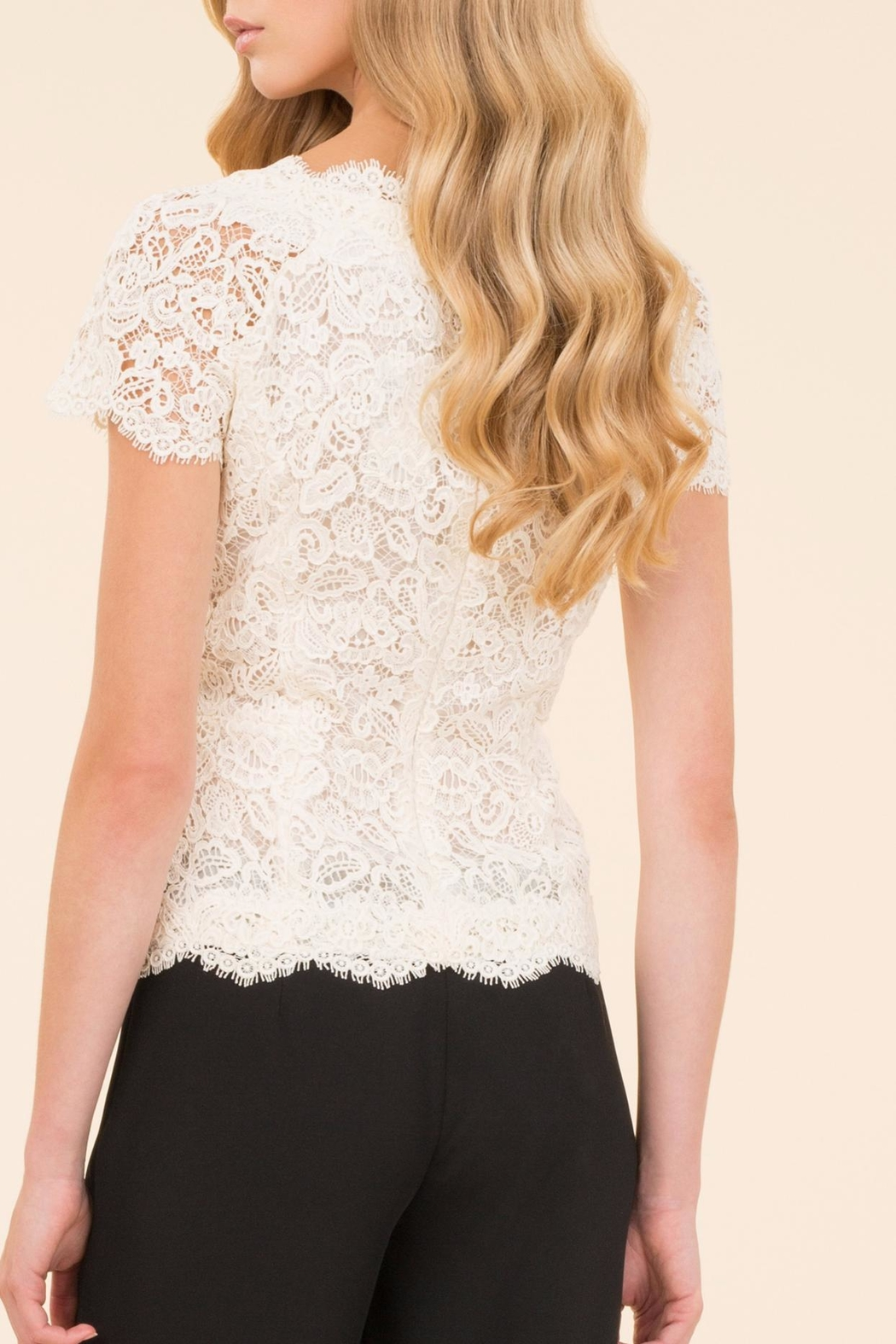 Luisa Spagnoli Cream Lace Top - Front Full Image