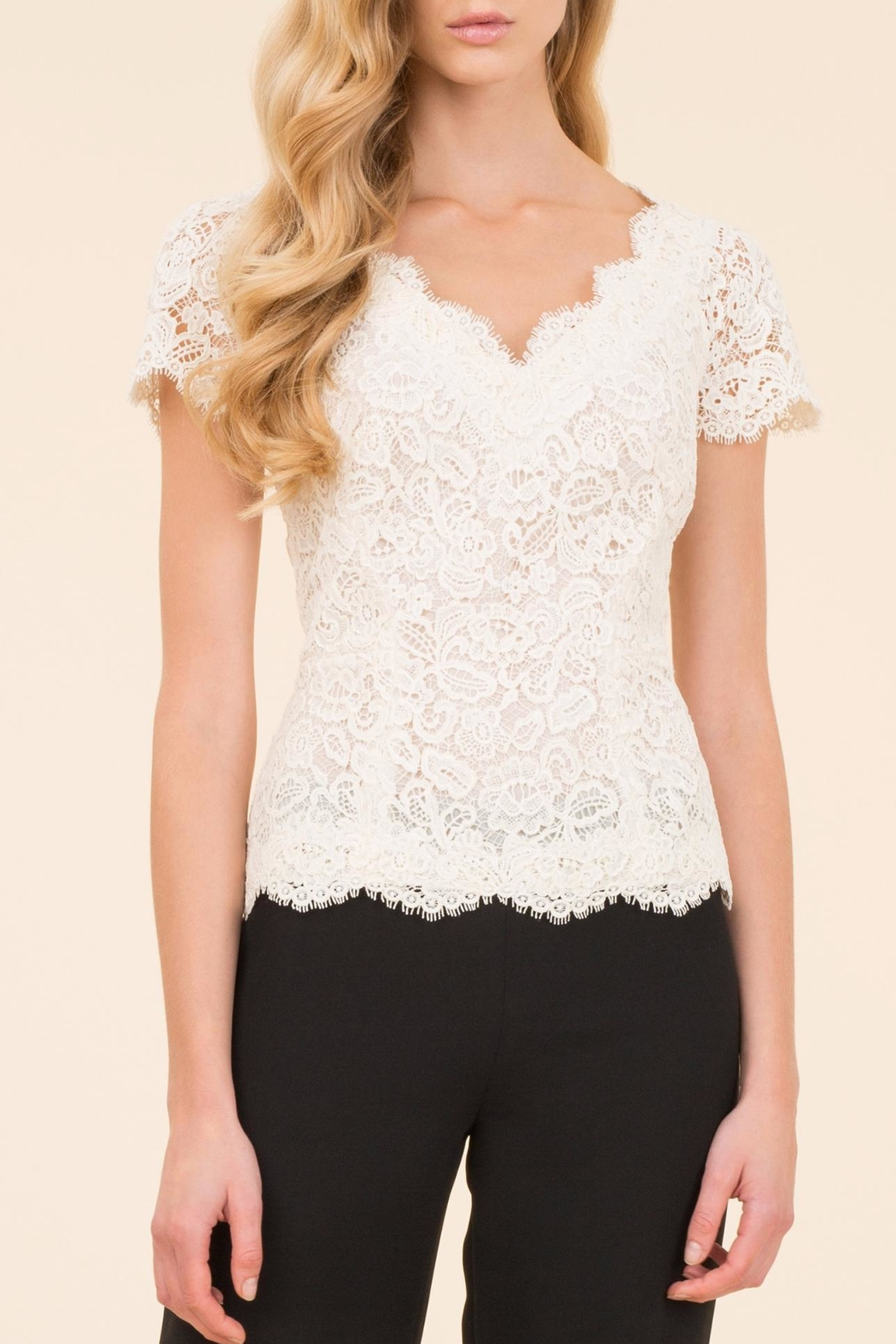 Luisa Spagnoli Cream Lace Top - Main Image