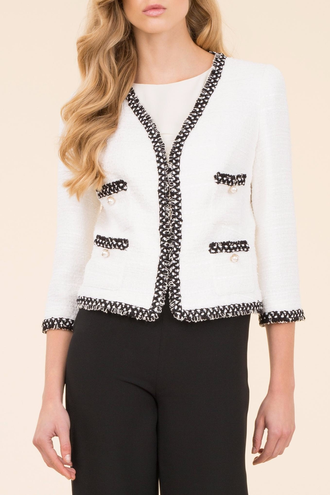 a1ca18df8f0d6 Luisa Spagnoli Vedetta Boucle Jacket from Marylebone by Alberre ...