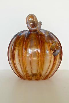 Shoptiques Product: Harvest Glass Pumpkin