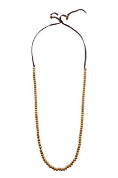 Shoptiques Product: Brass Beads Leather Necklace