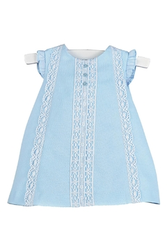Luli & Me Blue-Pique & Lace Dress - Product List Image