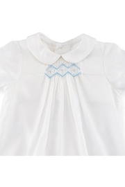 Luli & Me Embroidered Bubble Playsuit - Front full body