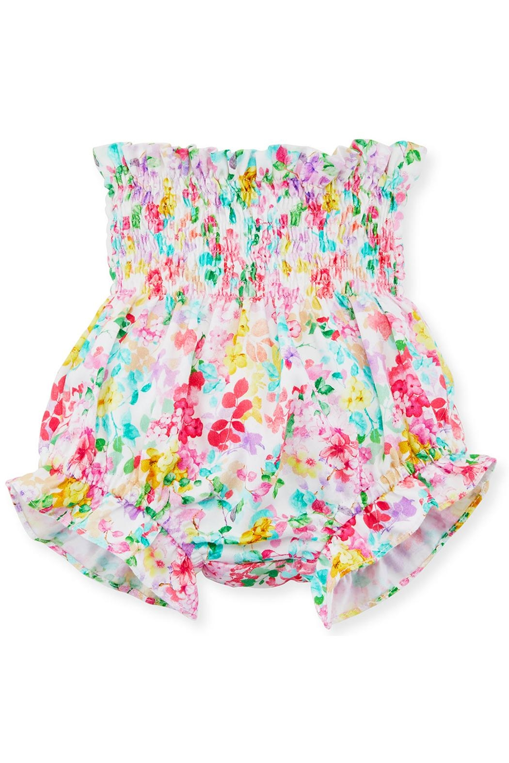 Luli & Me Embroidered Dress & Floral-Bloomers - Front Full Image