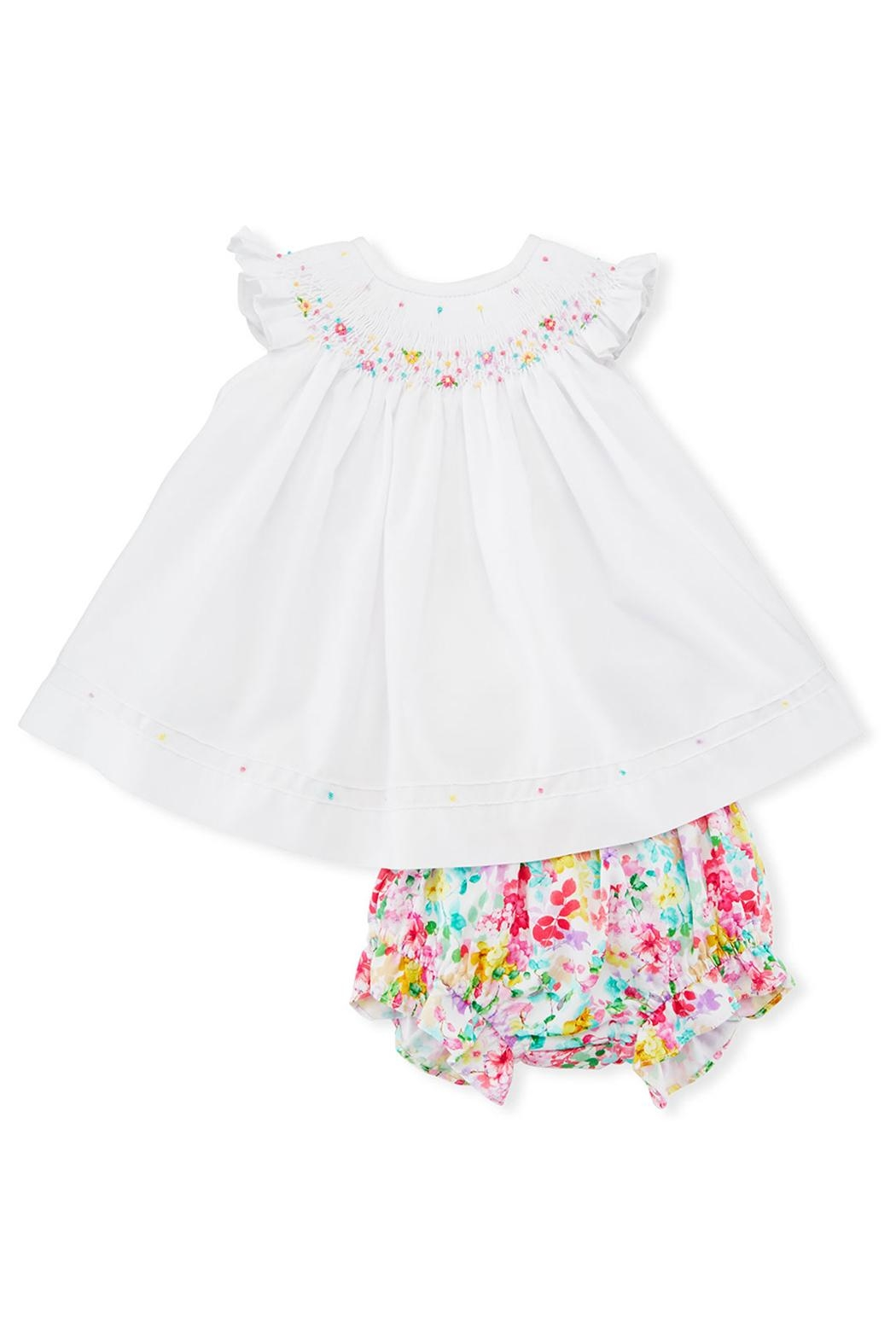 Luli & Me Embroidered Dress & Floral-Bloomers - Front Cropped Image