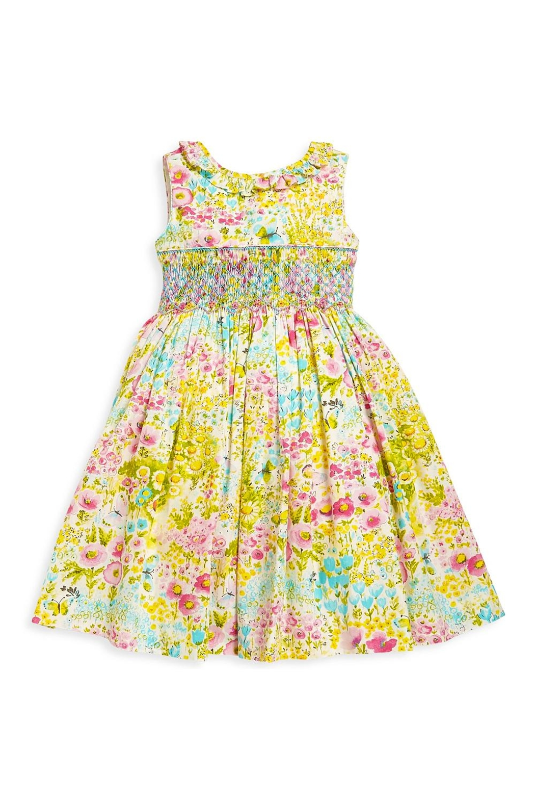Luli & Me Garden Smocked Dress - Front Cropped Image