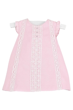 Luli & Me Pink-Pique & Lace Dress - Product List Image