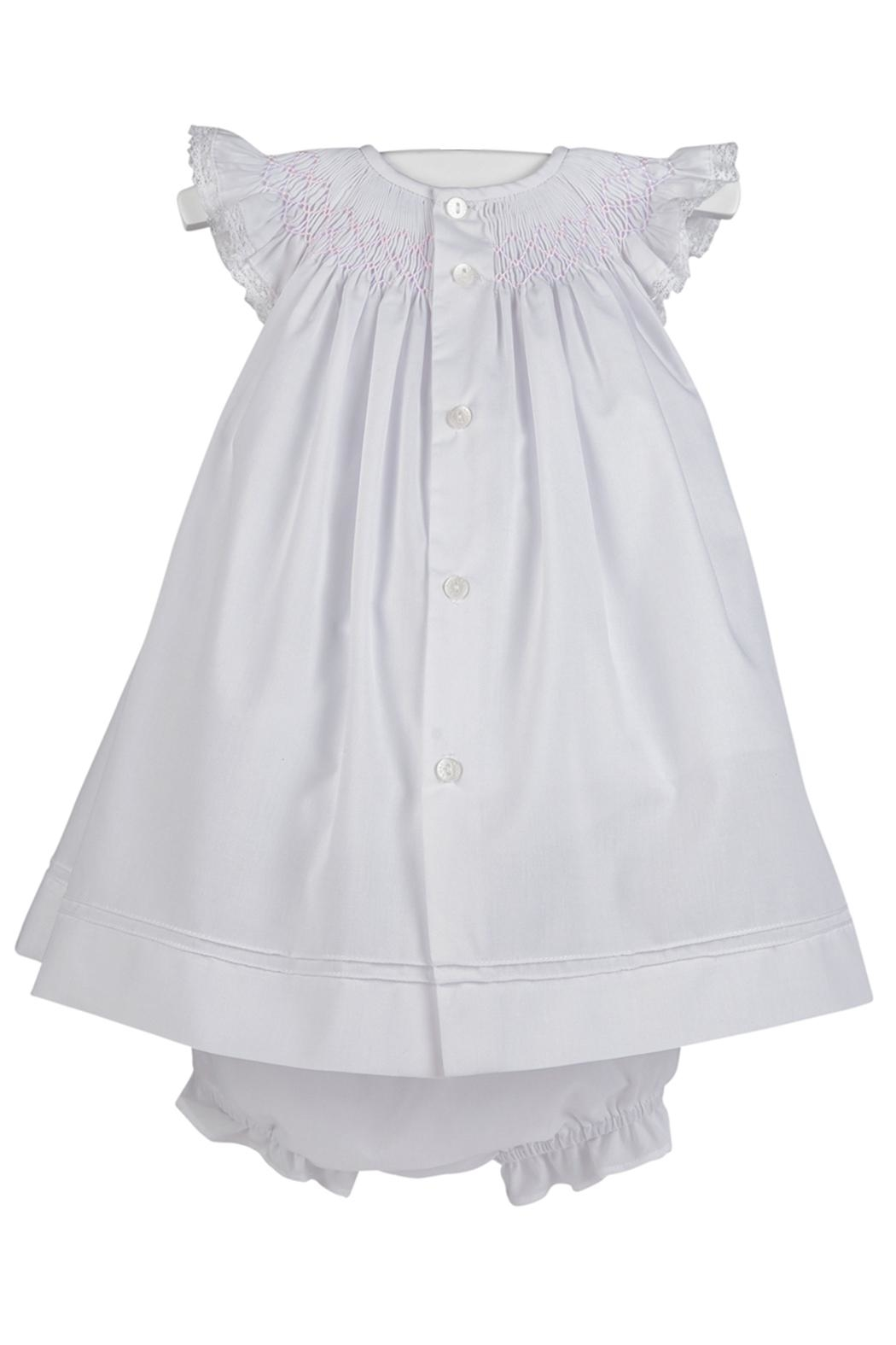 Luli & Me Smocked Bishop-Dress & Bloomers - Front Full Image