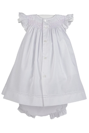 Luli & Me Smocked Bishop-Dress & Bloomers - Front full body