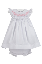 Luli & Me Smocked Bishop-Dress & Bloomers - Front cropped