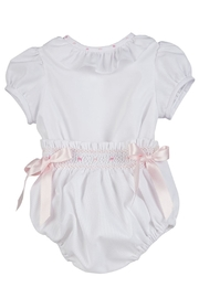 Luli & Me White 2pc-Bubble & Bonnet-Set - Side cropped