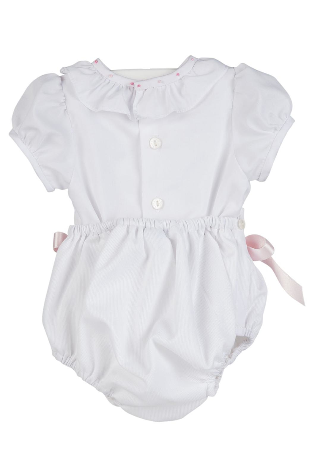 Luli & Me White 2pc-Bubble & Bonnet-Set - Front Full Image