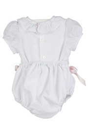 Luli & Me White 2pc-Bubble & Bonnet-Set - Front full body