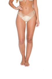 Luli Fama Strappy-Brazillian Ruched-Back Bottoms - Product Mini Image