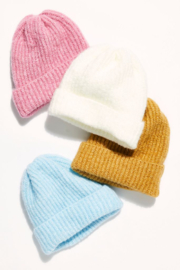 Free People  Lullaby Rib Beanie - Front cropped