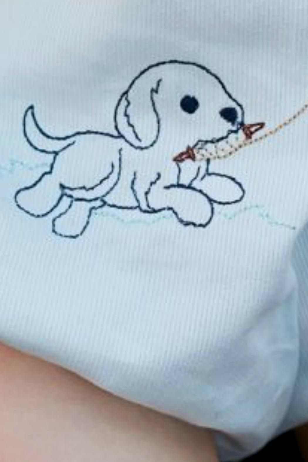 Lullaby Set Baby-Boy Puppy-Embroidery Bubble - Front Full Image