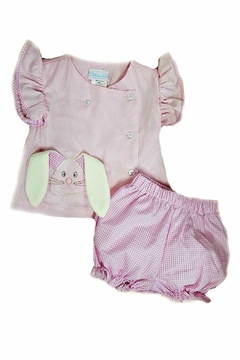 Shoptiques Product: Baby-Girl Bunny Diaper-Set