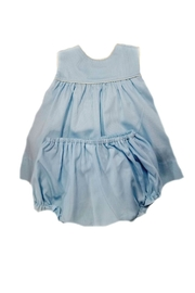 Lullaby Set Baby-Girl Puppy-Embroidered-Bloomer-Set - Side cropped