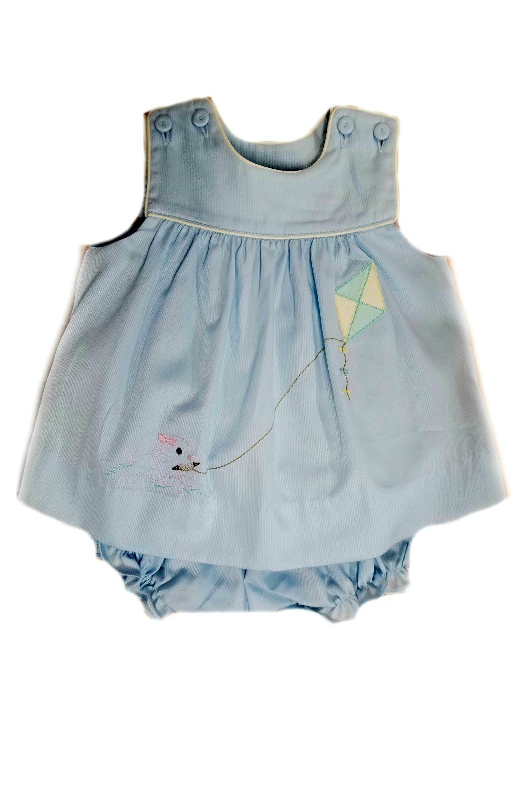 Lullaby Set Baby-Girl Puppy-Embroidered-Bloomer-Set - Main Image