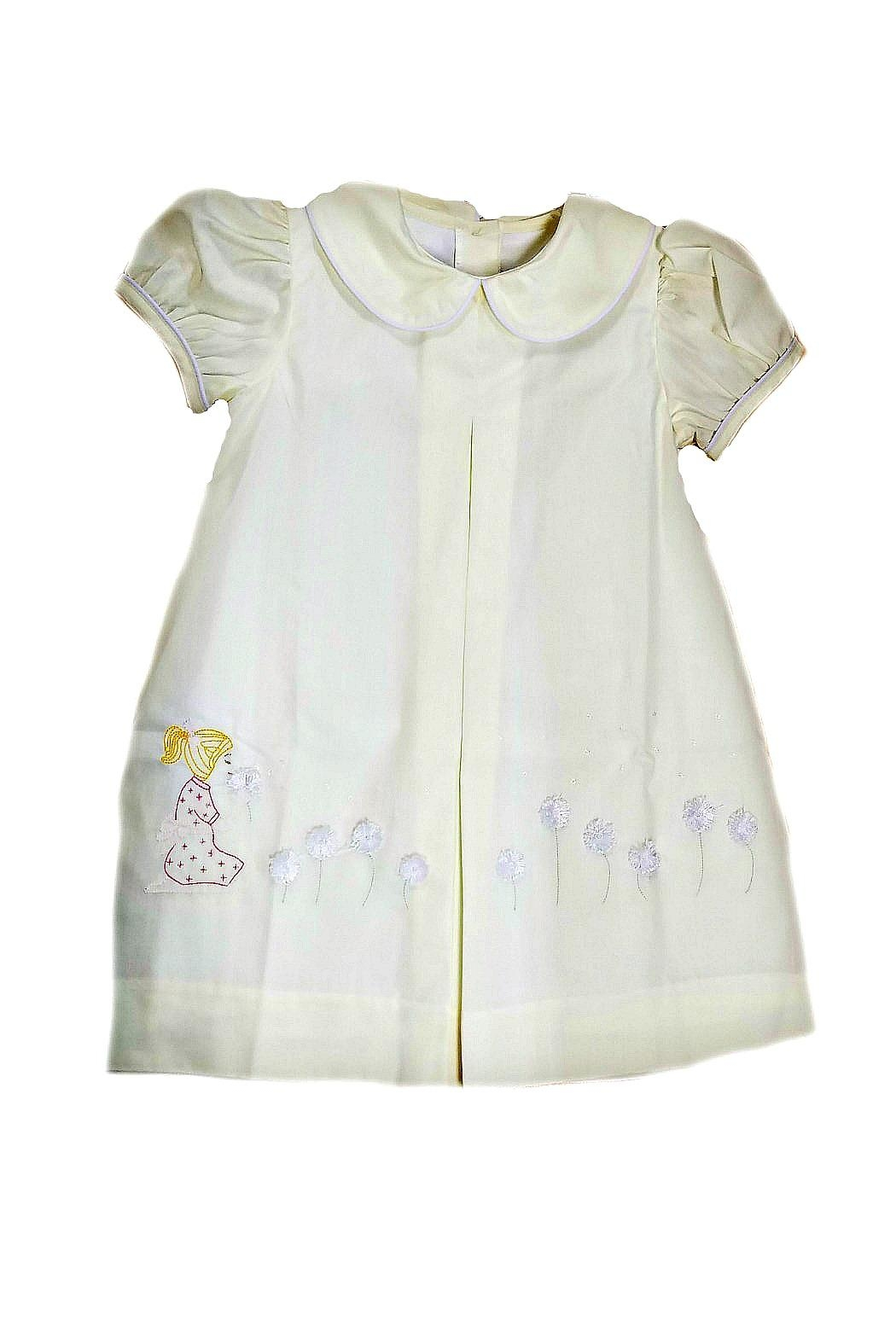 Lullaby Set Dandelion Embroidered Dress - Side Cropped Image