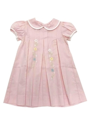 Lullaby Set Girls Pink-Pleated-Floral-Embroidery Dress - Product Mini Image